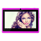 "7"" Tablet PC 7 Inch HD Quad Core tablet Google Android 4.4 8GB WiFi Purple"