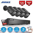 ANNKE 4TB Surveillance HDD 8CH 1080P Lite DVR 2500TVL Security TVI Camera System