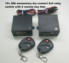 MSD 12V 30A 2 channel dry contact momentary switch with 2 transmitters RP301M