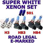 TOYOTA SUPRA 1993-1999 SET H3 HB3 HB4 501 XENON LIGHT BULBS