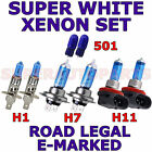 FORD TRANSIT CONNECT 2013+ SET H1 H7 H11 501 HALOGEN XENON EFFECT LIGHT BULBS