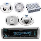 "Marine Bluetooth Radio, 2x 6X9'', 2x 6.5"" Speakers, 4 Channel Waterproof Amp"