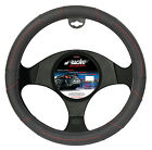 STEERING COVER RED SEAM SIMONI RACING BLACK INSERTED PERFORATED