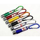 6PCS UV Money Detector Red Laser Pointer Pen LED Flashlight Pet Cat Toy Keychain