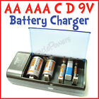D C AA AAA 9V 3A 2A Ni-Mh Battery Rechargeable Charger