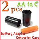 2 pcs battery Adaptor Converter Case  AA to C R1