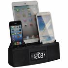 3 Port Smart Phone Charger with Speaker Phone (Bluetooth), Alarm, FM Radio