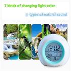Alarm Clock LED Wake Up Light Digital Clock with Temperature Display & Sound Hot