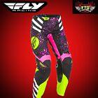 Fly Racing Kinetic Race Women's Motocross Pants  Neon pink & Hi-Vis 371-639
