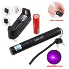 Waterproof 5mW 405nM Blue Purple High Power Laser Pointer 18650 Battery Charger