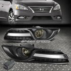 FOR 13-16 NISSAN SENTRA 4DR SMOKED LENS OE DRIVING PAIR FOG LIGHT LAMP+SWITCH