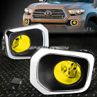 FOR 16-17 TOYOTA TACOMA PICKUP YELLOW LENS OE DRIVING PAIR FOG LIGHT LAMP+SWITCH