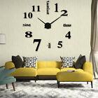 Modern DIY Analog 3D Mirror Surface Large Size Wall Clock Sticker Home Decor