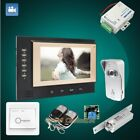 "HOMSECUR 7"" Wired Video Door Entry Security Intercom+Outdoor Monitoring 1C1M"