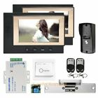 "HOMSECUR 7"" Video Door Entry Security Intercom+One Button Unlock for House/Flat"