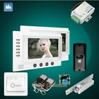 "HOMSECUR 7"" Wired Video Door Phone Intercom System with Outdoor Monitoring 1C2M"