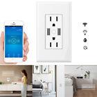 Smart WiFi Wall Timing Socket Outlet Wireless Light Switch Plate Socket US Plug