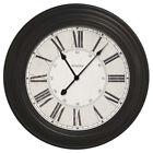 Westclox Black 24-inch Oversized Roman Numeral Wall Clock