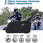 1200M Intercom GPS BT Bluetooth Motorcycle Helmet Interphone Headset 6 Riders