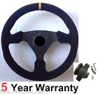 SUEDE STEERING WHEEL AND BOSS KIT HUB FITS CLASSIC AUSTIN ROVER LEYLAND MINI