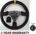 GENUINE LEATHER RACE DRIFT RACING RALLY STEERING WHEEL & BOSS KIT FOR RENAULT