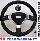 SPORT RACING RACE STEERING WHEEL 350MM AND BOSS KIT FITS VW GOLF MK4 MK5 POLO