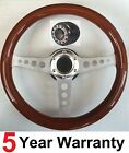 CLASSIC WOODEN WOOD 3 SPOKE 350MM STEERING WHEEL AND BOSS KIT FIT ALL TOYOTA