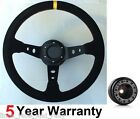 CORSICA SUEDE DRIFT STEERING WHEEL AND BOSS KIT FIT VAUXHALL CORSA B ASTRA OPEL