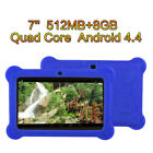 """7"""" High Screen HD 512M 8GB A33 Core Dual Camera Kid Android Tablet +Bundled Case"""