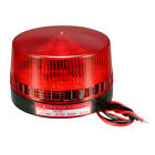 LED Warning Light Bulb Rotating Flash Signal Tower Lamp AC 220V 1W Red LTE-5061