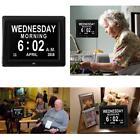 "8"" Large Digital LED Day Clock Alarm Time Week Date Calendar Dementia Display"