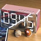 Mirror Portable BT Wireless Speaker LED Time Snooze Alarm Clock Sound Box N8H4