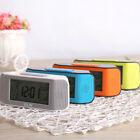 Digital LCD Display Alarm Clock Calendar Thermometer LED Backlight Voice Control