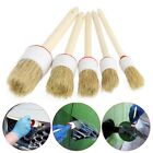 5Pcs Car Detailing Brushes Set Cleaning Dash Wood Handle Seats Wheels Cleaner