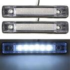 2pcs 6 LED Clearance Side Marker Light Indicator Lamp Truck Trailer 12-24V White