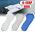600D Waterproof Blue/Gray/White Boat Full Outboard Engine Cover Fit 6-15HP Motor