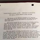 PIERCE GOVERNOR ASSEMBLY MA-1305 COMBAT Service Part Manual Instr WWII VTG 1940