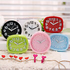 Electronic Alarm Clock Simple Design Candy Color Table Bedside Stereo Snooze BF