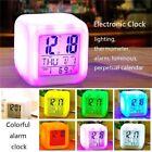 7 Color LED Change Digital Glowing Alarm Clock Night Light for Bedroom Child HOT