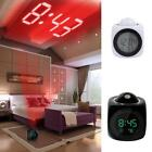 Digital Alarm Clock Multifunction W/ Voice Talking LED Projection & Temperature