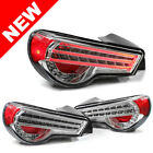 FOR 2013+ SUBARU BRZ / SCION FR-S HELIX/DEPO LED TAILLIGHTS -  CLEAR/CHROME/RED