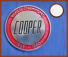 COOPER WORLD CHAMPIONS 1959 / 1960 - ADHESIVE ALUMINUM DECORATIVE PLATE