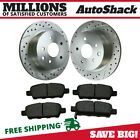 Rear (2) Drill Slotted Performance Rotors (4) Ceramic Pad For 03-05 Infiniti G35