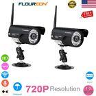 2x WiFi WLAN Wireleess CCTV 720P IP Camera Security Video Waterproof IP66 Webcam