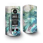 Skin Decal for Wismec Reuleaux RX Gen3 Dual Vape / Marble Pattern Blue Ocean gr