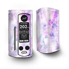 Skin Decal for Wismec Reuleaux RX Gen3 Dual Vape / Pastel Crystals pink purple