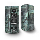 Skin Decal for Wismec Reuleaux RX Gen3 Dual Vape / Patina Metal and Wood Blue