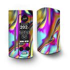 Skin Decal for Wismec Reuleaux RX Gen3 Dual Vape / Oil Slick Resin Iridium Glas