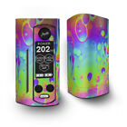 Skin Decal for Wismec Reuleaux RX Gen3 Dual Vape / trippy tie die colors drippi