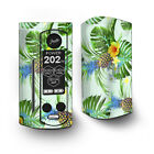 Skin Decal for Wismec Reuleaux RX Gen3 Dual Vape / tropical floral pattern pine